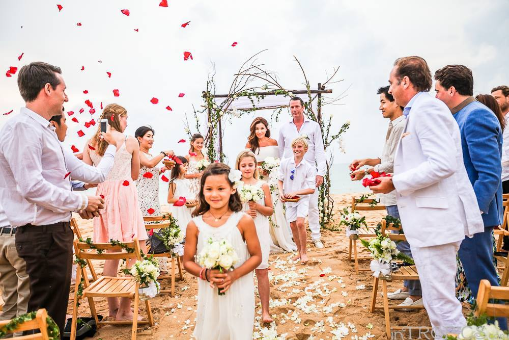 Benjama & Rory's Phuket beach wedding ceremony - by Weddings In Phuket