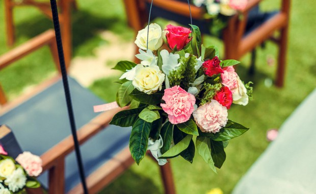 Flower arrangements for Phuket Weddings by Grand Forest Thailand