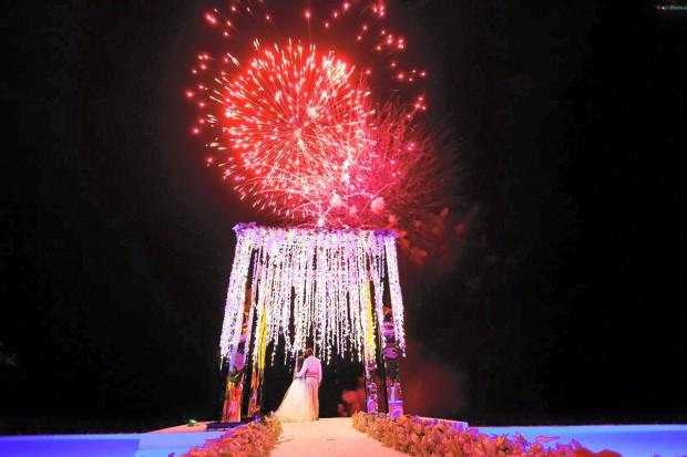 Mary & Igor's Phuket wedding fireworks by Weddings In Phuket
