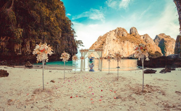 Spectacular beach wedding location Phuket Thailand